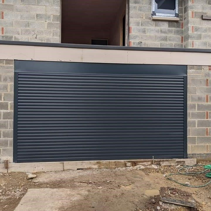 all anthricate grey roller shutter and surrounds
